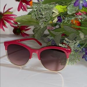 Guess Pink Sunglasses With Metal Trim